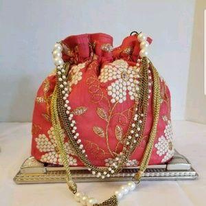 Handbags - BEAUTIFUL BOLLYWOOD STYLE POTLI BAG